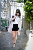 light blue mood by me shirt - black castaner shoes - beige mood by me coat