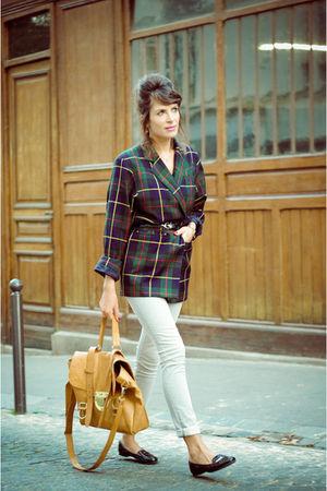 green Emmanuelle Khanh jacket - silver Gap jeans - beige SU-SHI bag - black ANDR
