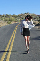 white Antipodium shirt - black H&M skirt - black Topshop heels