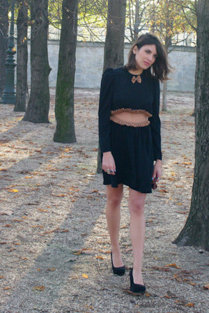 black Ysterike dress - new look heels