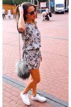 heather gray Zara bag - black Electric sunglasses - white Converse sneakers