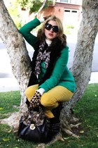 flat suede Forever 21 boots - knit peacoat Forever 21 jacket