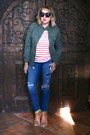 Brown-booties-betsey-johnson-boots-navy-distressed-jcrew-jeans