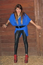 blue audrey Kika Paprika jacket - black INC leggings