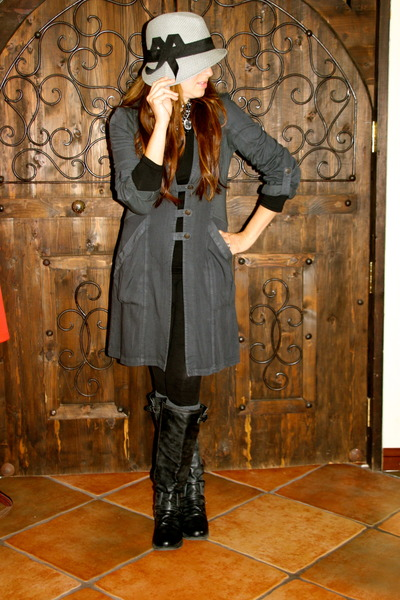dark gray Kika Paprika jacket - charcoal gray Madden Girl boots