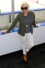 Brown-booties-betsey-johnson-boots-white-white-denim-zara-jeans