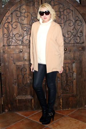 camel camel jacket Forever 21 coat - black booties michael antonio boots