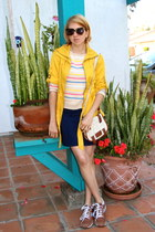 mustard jacket - beige Forever 21 sweater - off white H&M purse