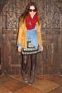 Dark-brown-steve-madden-boots-mustard-suede-shirt-vintage-jacket