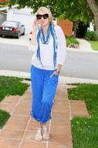 bracelet - light blue tie dye Forever 21 scarf