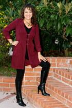 teal Kika Paprika dress - crimson Kika Paprika jacket - red Kika Paprika jacket