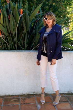 navy cropped trench Forever 21 coat - silver BCBGeneration shoes