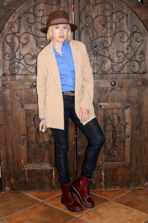 camel camel coat Forever 21 jacket - brick red doc martens Target boots