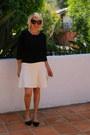 Black-tilden-sweater-white-zara-skirt-black-dolce-vita-flats