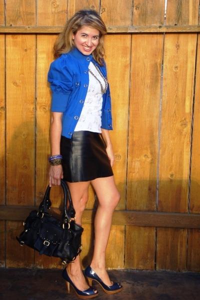 Blue Closet Jackets, White Target Ts, Shirts, Black BCBG Skirts ...