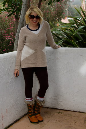 forest green snow boots Target boots - tan Forever 21 sweater