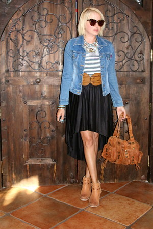 brown Chloe purse - light brown booties Betsey Johnson boots