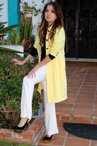yellow kikaPaprika coat - black kikaPaprika top - white kikaPaprika pants