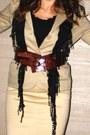 Ed-hardy-watch-khaki-blazer-gap-jacket-schiffon-fringe-scarf