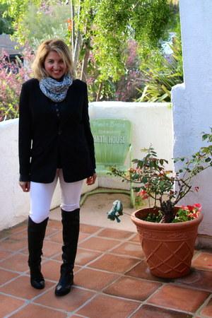 black otk boots Ivanka Trump boots - white white denim Zara jeans
