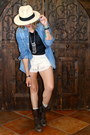 Dark-brown-rugged-boots-steve-madden-boots-ivory-panama-hat-hat