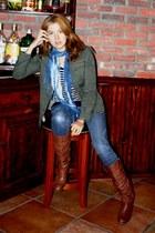 tawny Via Spaga boots - navy skinny Forever 21 jeans