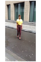 polyester unknown blouse - fake leather River Island shoes