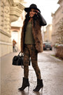 Black-studded-zara-boots-olive-green-camo-zara-jeans
