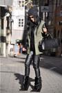 Army-green-parka-river-island-jacket-black-lazio-isabel-marant-boots