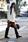 Black-zara-boots-white-oversized-zara-sweater-black-zara-bag