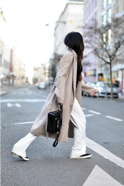 black PROENZA SCHOULER bag - camel long Zara coat
