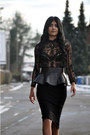 Black-studded-zara-boots-black-peplum-zara-belt-black-pencil-h-m-trend-skirt