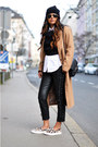 Camel-asos-coat-beanie-h-m-hat-zara-shirt-slip-on-zara-sneakers