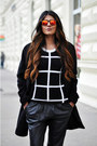 Black-oversized-mango-coat-white-grid-choies-sweater