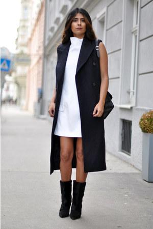 H&M vest - lazio ponyhair Isabel Marant boots - Zara dress