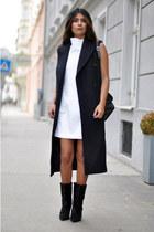 lazio ponyhair Isabel Marant boots - Zara dress - H&M vest