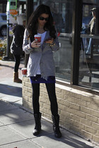 Forever21 cardigan - leather All Saints boots - Urban Outfitters tights