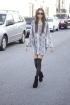 silk Audrey 31 dress - suede Dolce Vita boots