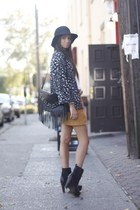 leather fringe H&M bag - leather wood Dolce Vita boots - suede Forever 21 skirt