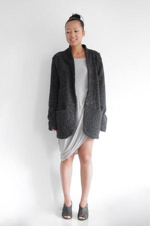 gray AMERICAN VINTAGE blazer - Helmut Lang dress