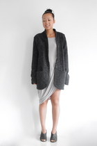 gray AMERICAN VINTAGE blazer - Helmut Lang dress