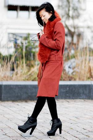 tawny Topshop coat
