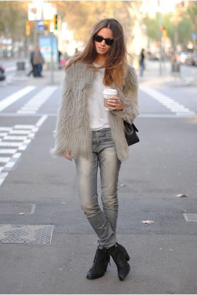 Zara coat - Topshop boots
