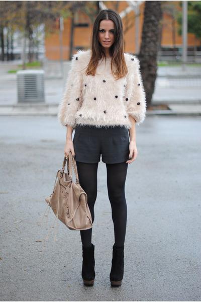 balenciaga bag - Friis & Company boots - Zara shorts