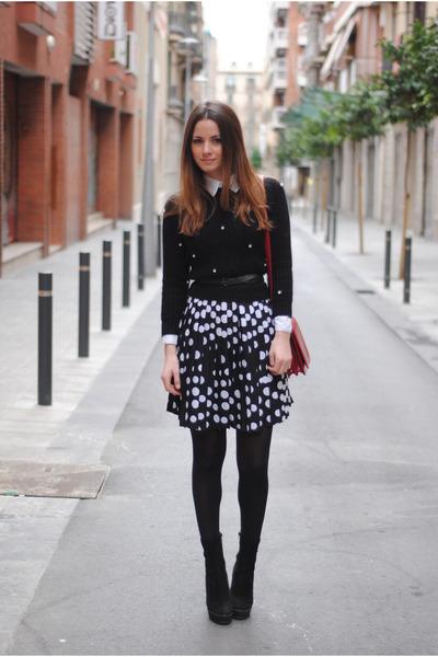 Zara boots - BLANCO skirt
