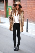 sendra shoes - vintage coat - H&M shirt