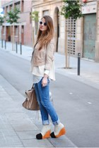 H&M jacket - balenciaga bag - minimarket wedges