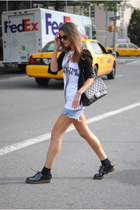 Chanel bag - Dr Martens boots - Marc by Marc Jacobs t-shirt