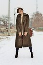 Black-leather-mono-shoes-boots-army-green-wool-polyester-sheinsidecom-coat