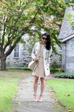 J Crew dress - ann taylor shoes - Burberry coat - Zara bag